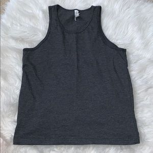 Other - Gray racer back top